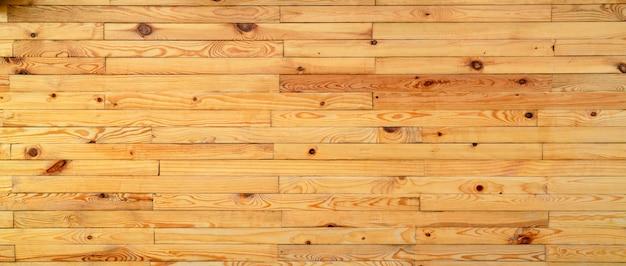 ユニークなパターンテクスチャ背景を持つ黄色の木材をクローズアップ。