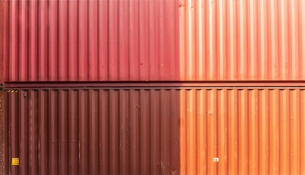 Фоновая текстура стены контейнера коробки. полосатый рисунок линии. фабрика-склад строительная бизнес-концепция