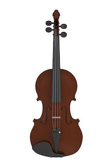 白い背景で隔離の古典的なバイオリン