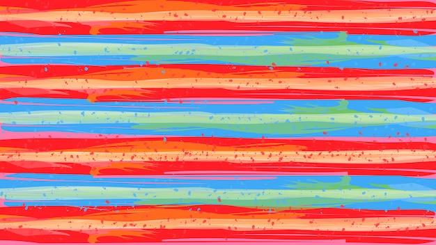 ペイントブラシのカラフルな質感のデザインの抽象的な背景