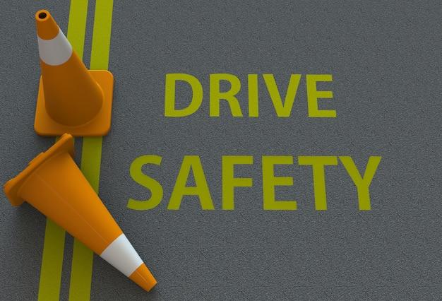 安全運転、道路上のメッセージ