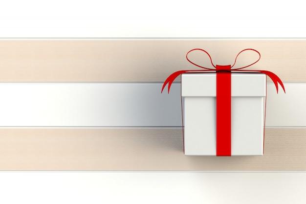 クリスマスとお正月、分離された赤白のギフトボックス
