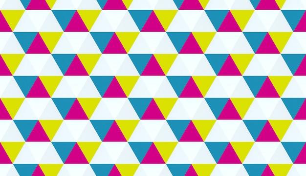 カラフルな幾何学的な質感。六角形の要素