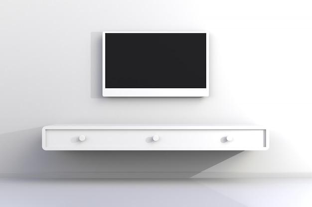 テレビと空の部屋のインテリア