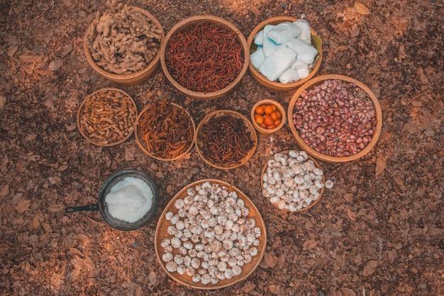 食品を作るための生の材料