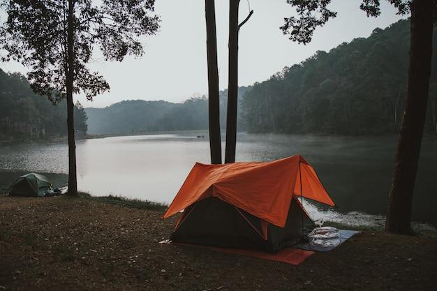 Палатка с апельсином на набережной.