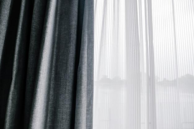 日光を保護するための二重層窓カーテン