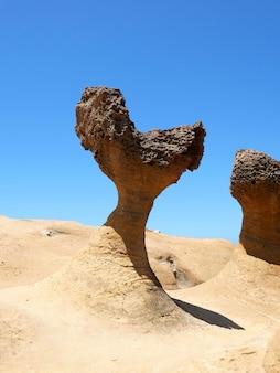 台湾、新北、野柳地質公園のハート形の岩。