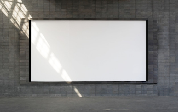 Большой горизонтальный пустой рекламный щит кадр макет.
