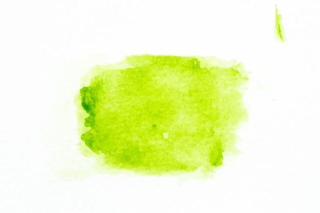 ホワイトペーパーの背景にブラシとして緑色の水彩画手描き