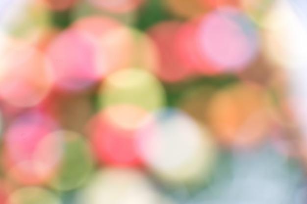 カラフルな(赤、黄、青、緑、白)ボケ背景