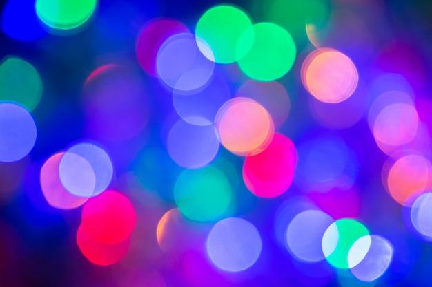 Красочные абстрактные размытые круговые боке огни