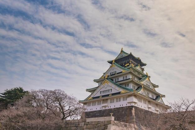 日本の大阪城。