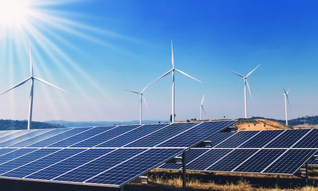自然の中でクリーンエネルギーの概念