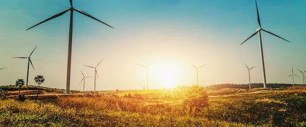 自然の中でコンセプトアイデアエコ電力エネルギー