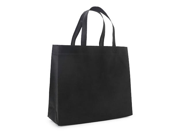 空白の黒い布キャンバスバッグ絶縁型