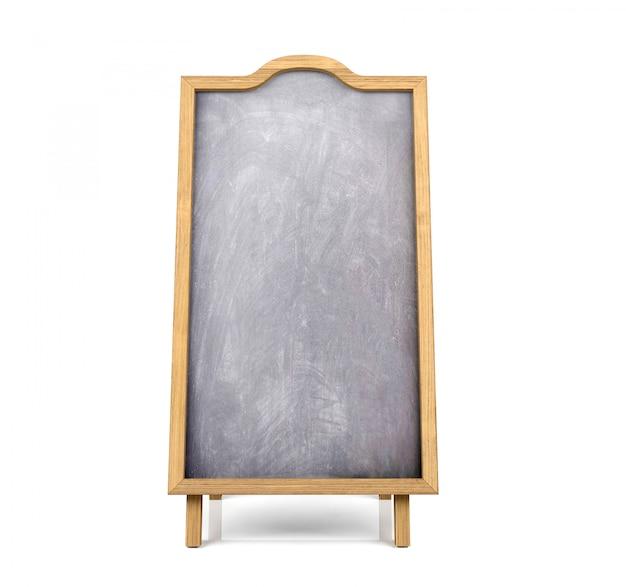 黒板メニューの白い背景で隔離