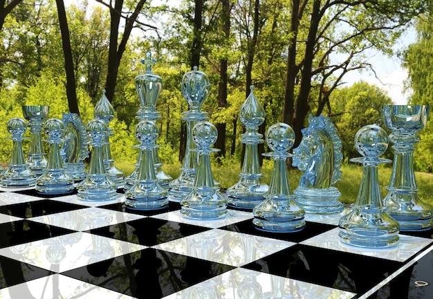 Шахматная доска в лесу