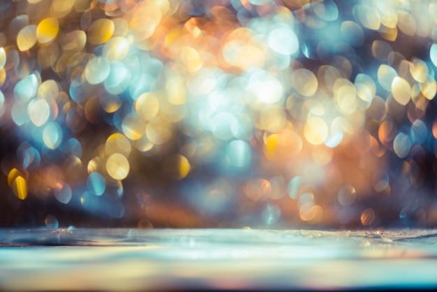 記念日、大日、クリスマスのボケキラキラカラフルなぼやけた抽象的な背景