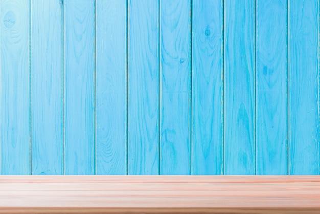 木製の床の背景美しいシートビンテージアラインメントブルーの質感と自然の模様