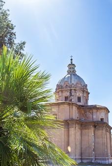 Церковь санти лука и мартина в риме