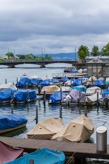 チューリッヒ湖のボート