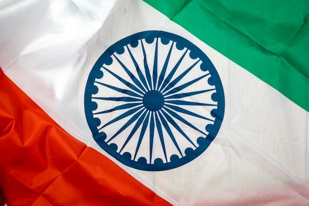 Празднование дня независимости индии флаг индии