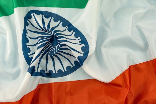 インド独立記念日インドの旗の背景を祝っています。