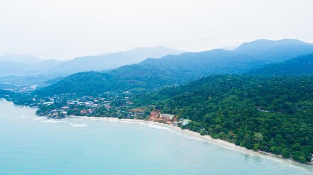 Антенна пляжа клонг прао на острове ко чанг
