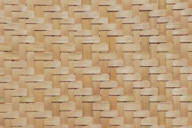 竹の枝編み細工品のテクスチャ。