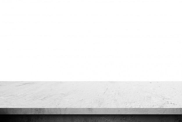 ディスプレイ製品のための白い背景で隔離のセメント棚テーブル