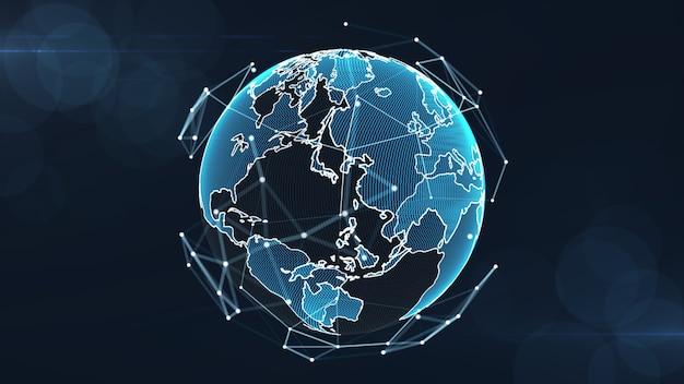 Растущая концепция глобальных сетей и данных.
