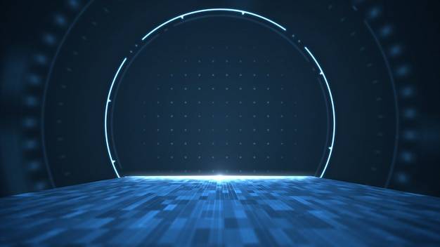 抽象的なビッグデータのデジタルセンター、サーバーとデータ通信の転送。