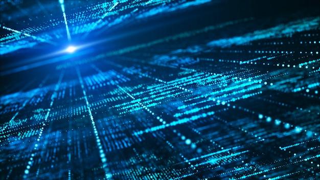抽象的なデジタルマトリックスの背景。未来的な大規模な情報技術のコンセプト。