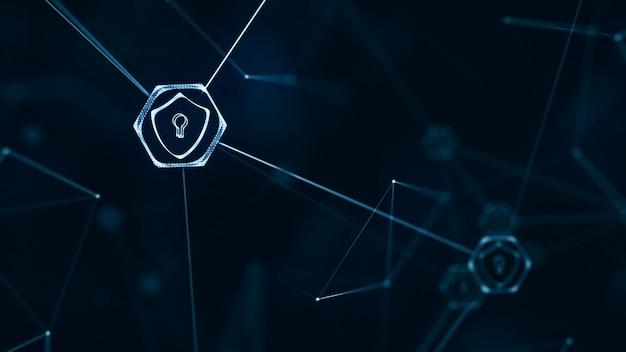 Интернет-технология и концепция кибербезопасности.