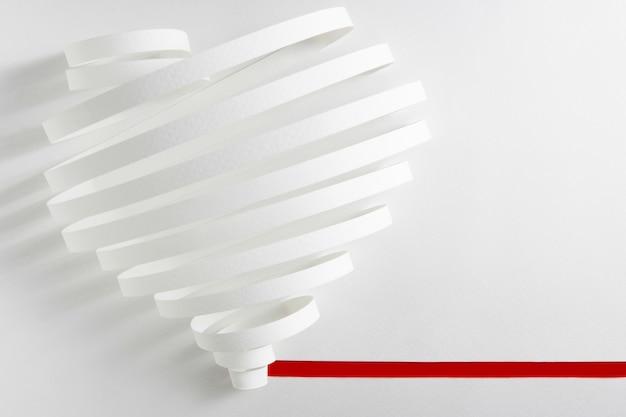 紙の心バレンタインデーのコンセプトです。