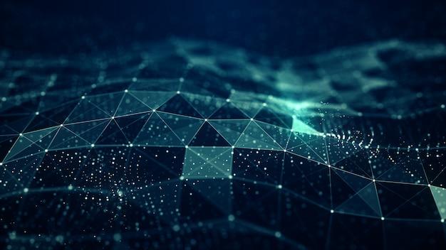 抽象的な神経叢デジタルブルー