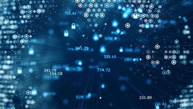 コネクティビティを伝えるテクノロジデータバイナリコードネットワーク