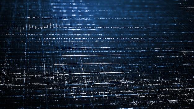 抽象的なデジタル技術の背景のコンセプト