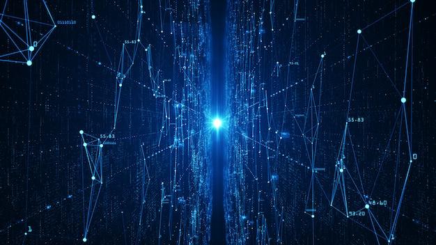 抽象的なテクノロジーのビッグデータの背景。