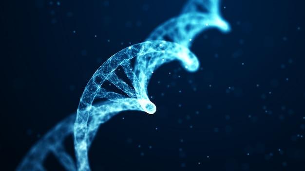 医学、遺伝子バイオテクノロジー、化学生物学、遺伝子細胞の概念。