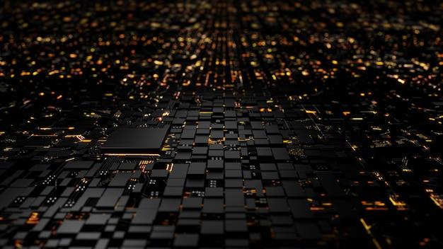 Микропроцессорный чипсет центрального процессора на схеме освещения