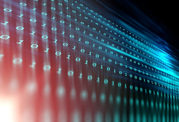 デジタルコード番号抽象的な技術の背景