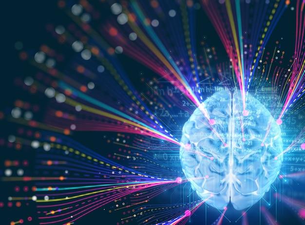 ビッグデータの未来的な可視化抽象イラスト