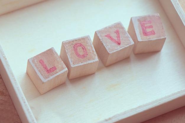 愛の言葉ブロック