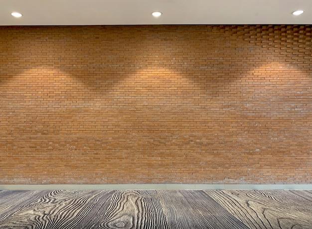 茶色の素朴なレンガの壁の背景