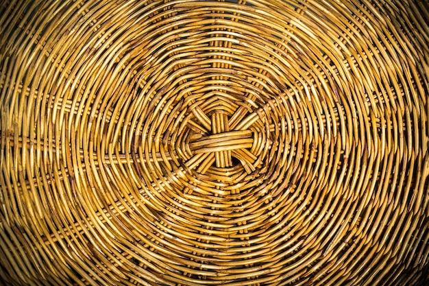 Макрофотография и текстура плетеной корзины