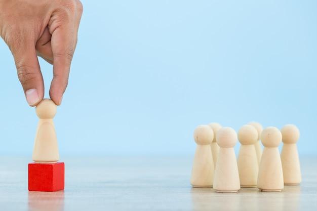 成功するビジネスチームリーダーのコンセプト - イメージを持つビジネス人事、採用従業員および才能管理者を手にします。