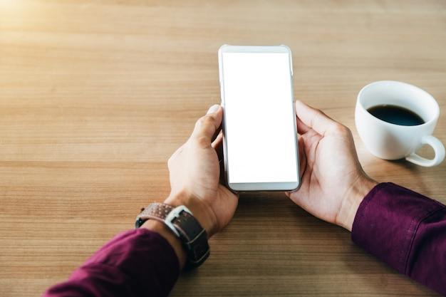 空白の画面技術とライフスタイルの概念を持つ携帯電話。