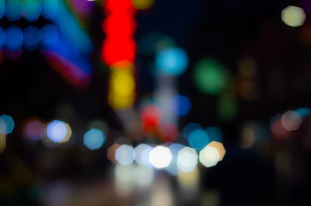 オクタゴンの背景のボケ味の抽象的な明るい明るいカラフルです。